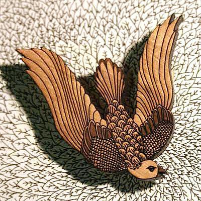 A Pigeon Brooch by Bonnie Poplar