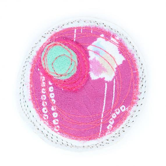 Mushi Brooch Small - Creme, Pink, Aqua by Mainichi