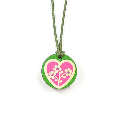 Wooden Heart Childrens Pendant - Watermelon by Sweet Polli