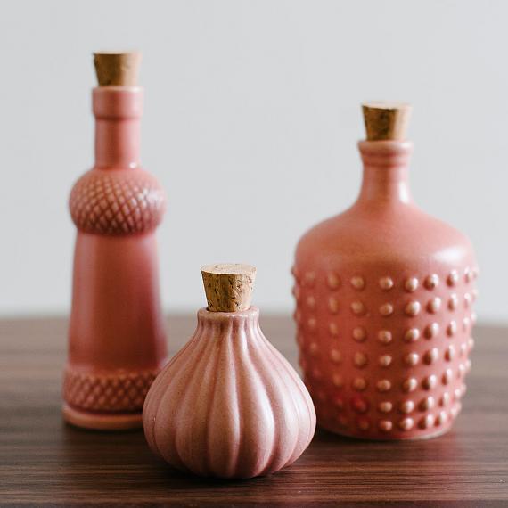 Fairy Floss Pink Ceramic Bottles designed in Australia by Love Hate