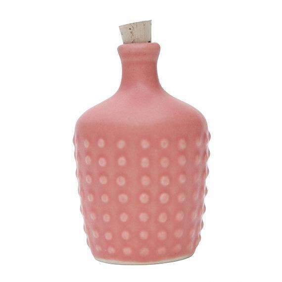 Fairy Floss Pink Polka Ceramic Bottle designed in Australia by Love Hate
