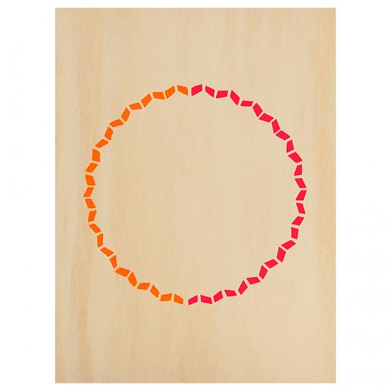 Zig Zag Circle Print on Ply Warms handmade in Australia by me and amber