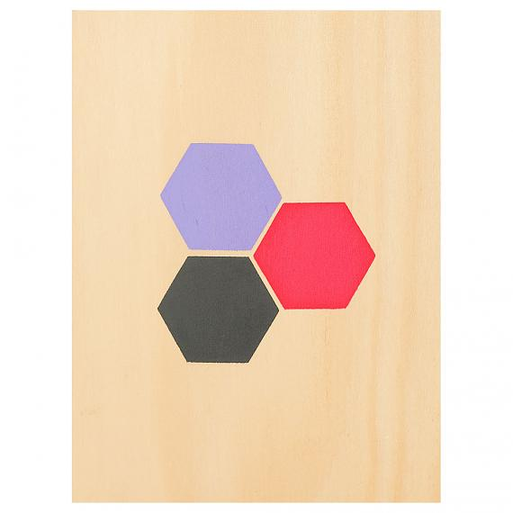 Hexagons Print on Ply Candy handmade in Australia by me and amber