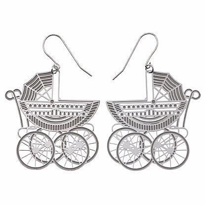 Pram Stainless Steel Earrings by Polli