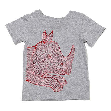 Rhino Kids T-shirt by Sunday Morning Designs