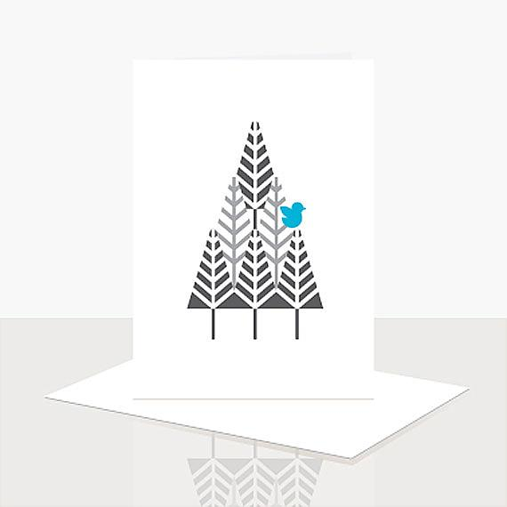 Tree Card from Scandi Obsession Assorted Greeting Card Pack designed and handmade in Australia by Ella Leach Designs