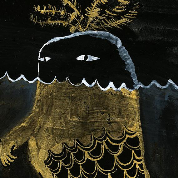 Detail of Monster Seaweed Fish Print by benconservato