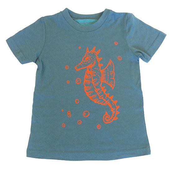 Seahorse Kids T-shirt by Sunday Morning Designs