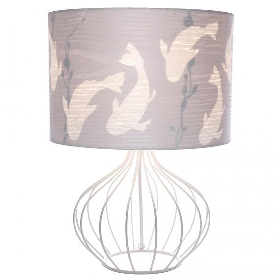Small Koi White Table Lamp designed in Australia by Micky & Stevie