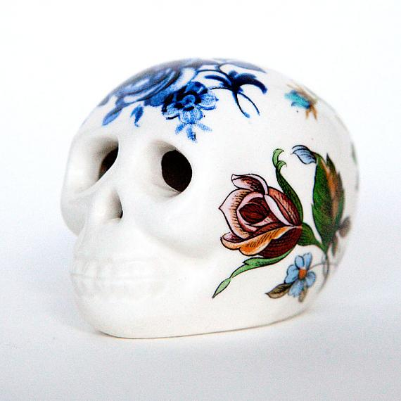 Floral Skull Small Indie Art Amp Design