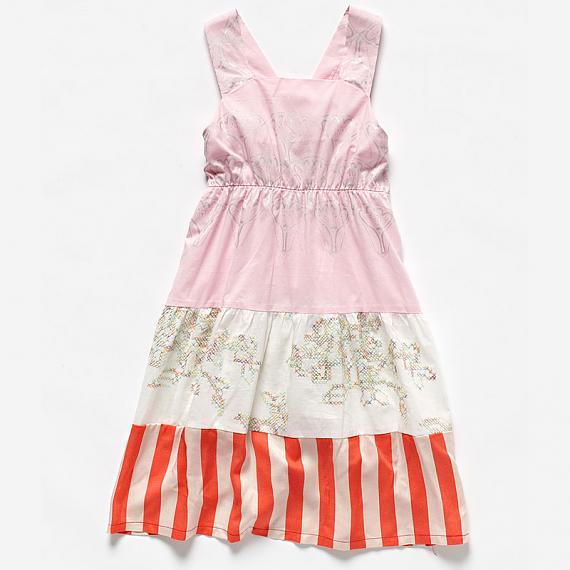 Little girls Star Dress Pink by Knuffle Kid