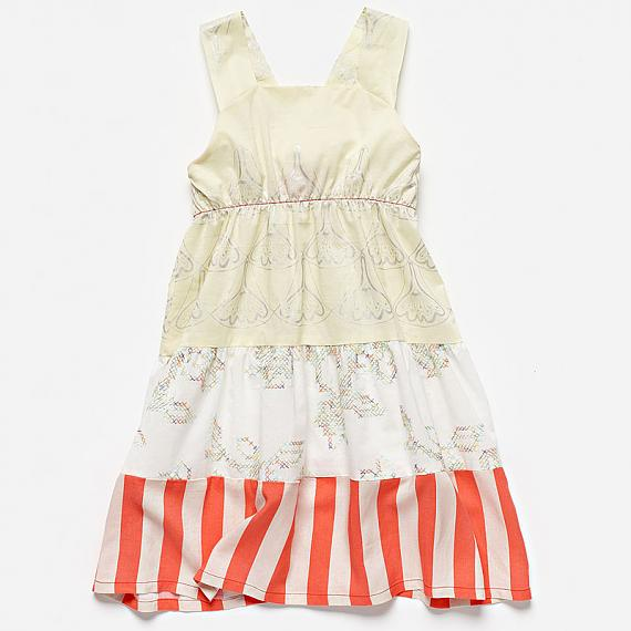 Little girls Star Dress Yellow by Knuffle Kid