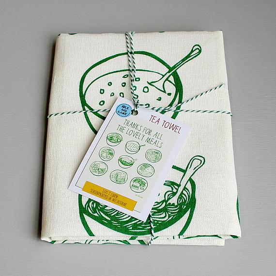 Tea Towel - Thanks for Lovely Meals - handmade in Melbourne by Able & Game