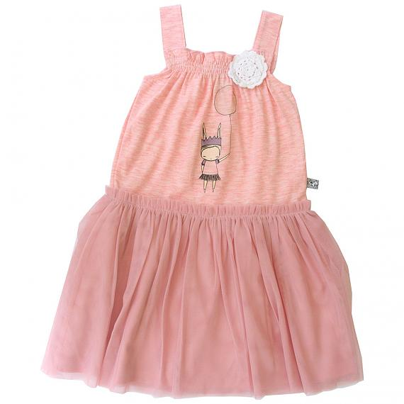 Tutu Dress Vintage Pink designed in Australia by and the little dog laughed featuring illustration by Nomuu