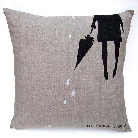 Umbrella Cushion - Dark Natural by me and amber