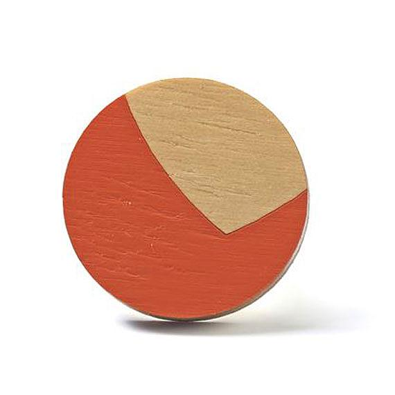 Valley Wooden Ring Vermillion made in Australia by Polli