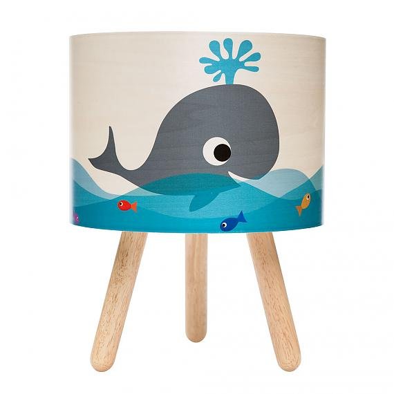 Whale Timber Table Lamp designed in Australia by Micky & Stevie