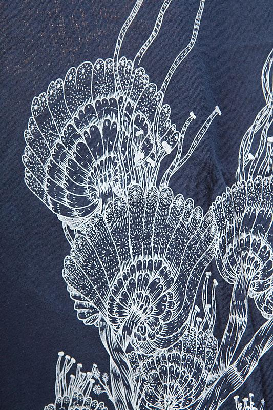 Flower T-shirt - Charcoal by Sunday Morning Designs