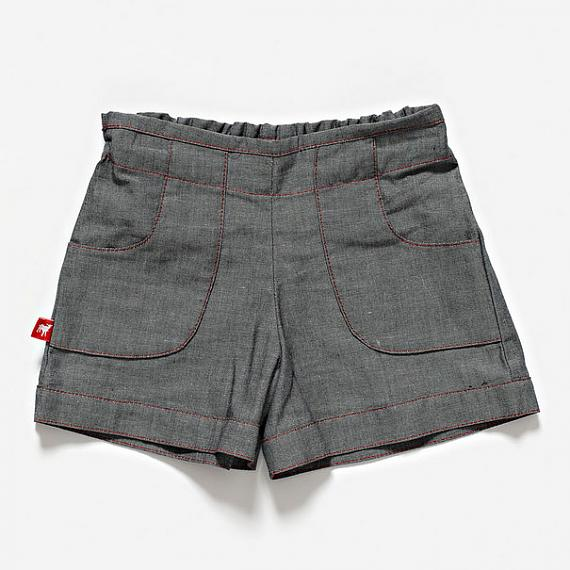 The Woodcutter Shorts - Grey Denim by Knuffle Kid