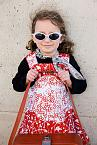 The Hostess Reversible Dress - Red and Denim by Knuffle Kid